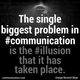 communication quote George B Shaw